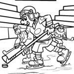 Coloriage hockey sur glace - sports d'hiver