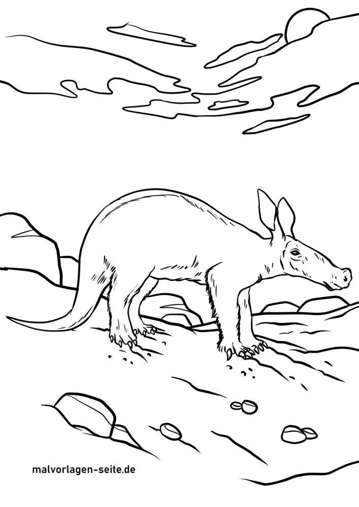 Värvimisleht aardvark