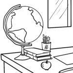 Malvorlage Globus
