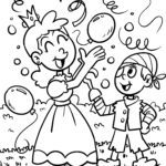Coloring page carnival carnival