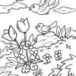 Malvorlage Frühling
