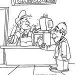 Malvorlage Gepäckkontrolle Zoll