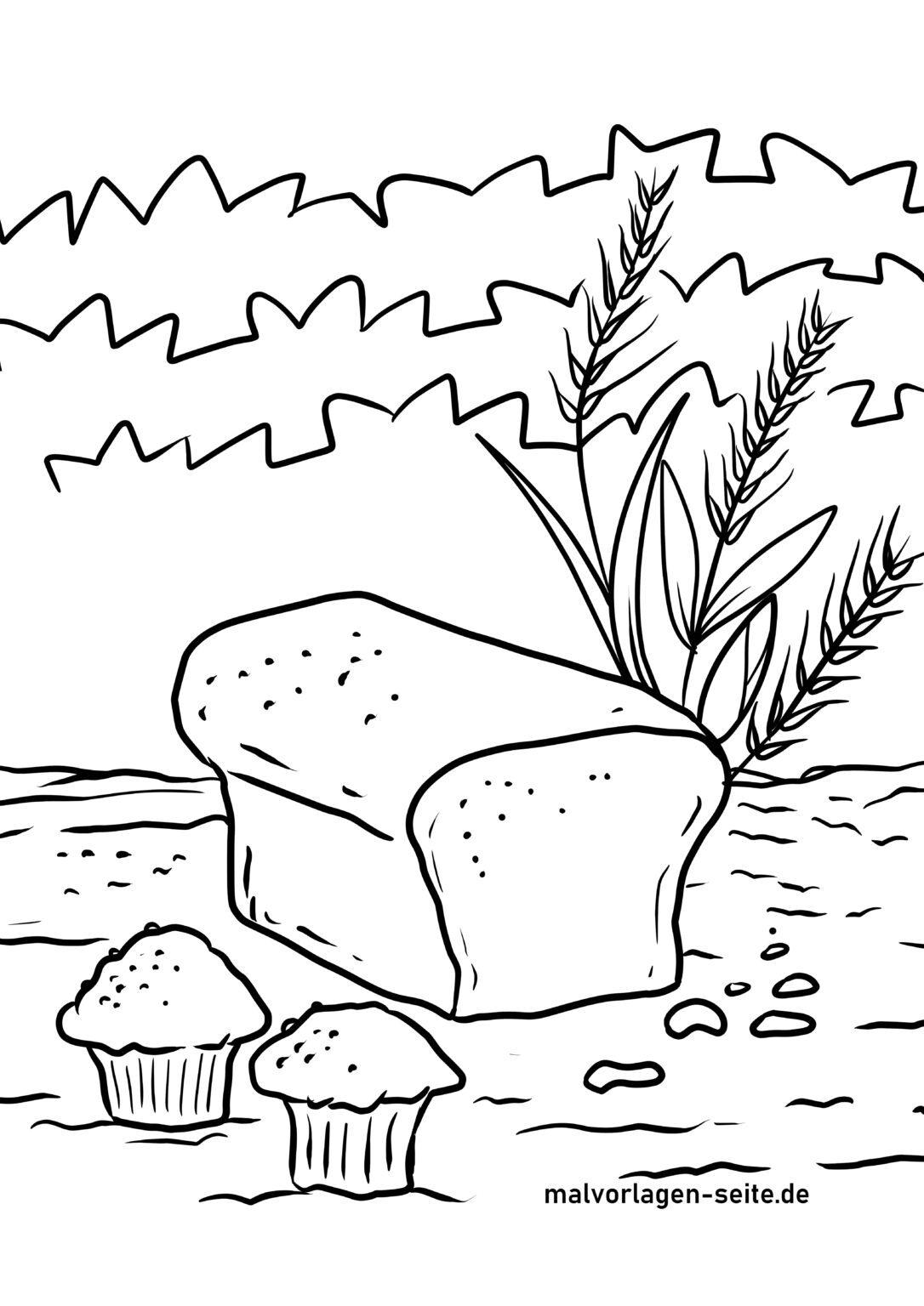 malvorlage backen getreide  essen  kostenlose ausmalbilder