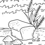 Coloring page baking cereals - food