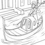 Dibujo para colorear Goldel conduciendo Venecia - lugares de interés