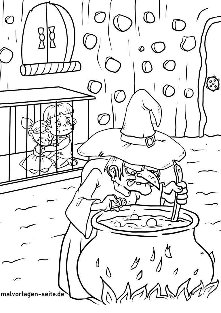 malvorlage hänsel und gretel märchen  kostenlose ausmalbilder