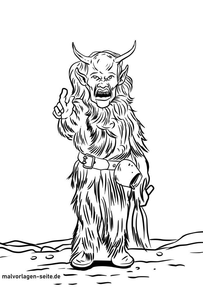 Tegninger til farvelægning Krampus