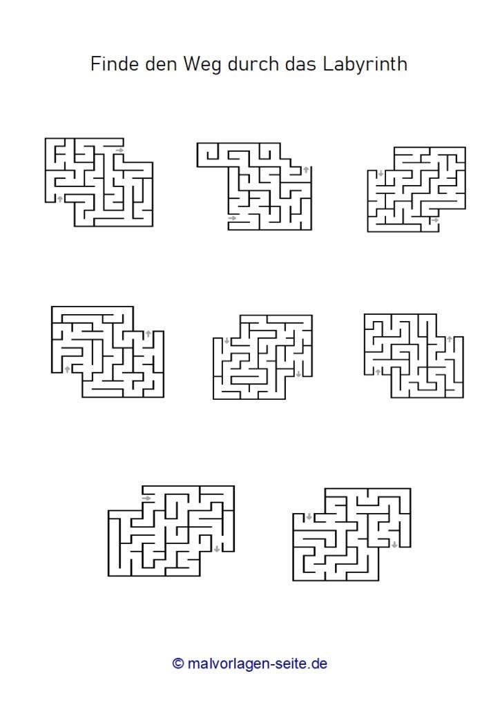 List za vježbanje labirinti - labirint za djecu