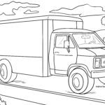 Coloring page delivery truck