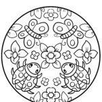 דף צביעה מנדלה אביבית