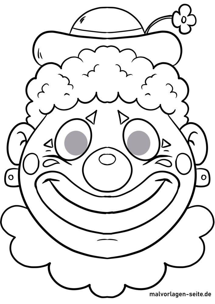 Clown Wollbilder Carnevale Scuola Attivita 0