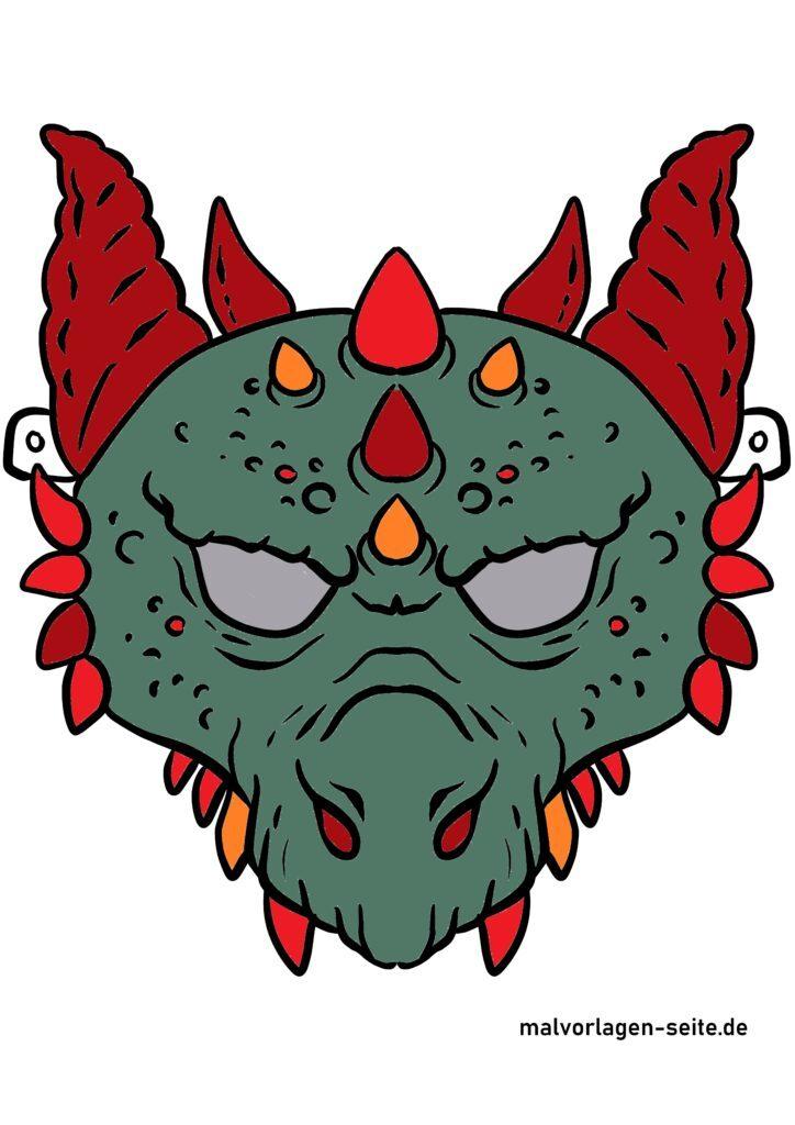 Värillinen lohikäärme naamio