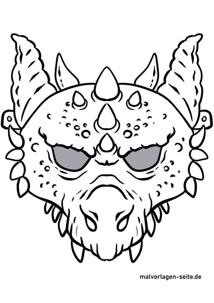 Mask handicrafts - mask template dragon