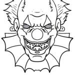 Mask handicrafts - mask template horror clown