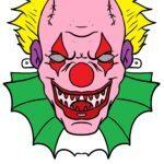 Каляровая маска клоуна жахаў