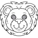 Mask handicrafts - mask template lion