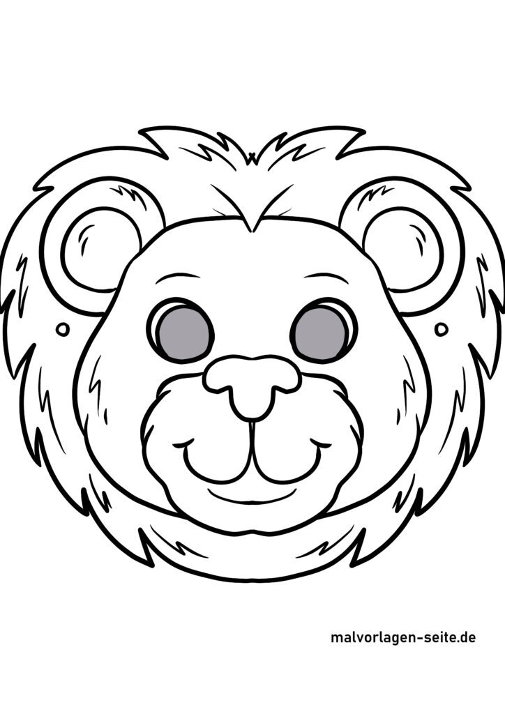Mask handicrafts - mask template lion