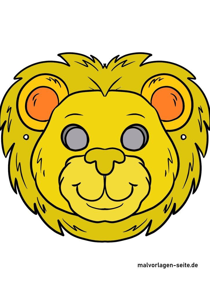 Farvet løvemaske