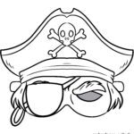 Mask handicrafts - mask template pirate