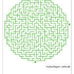Predložak kružnog labirinta za napredne učenike