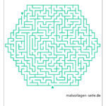 Predložak šesterokutnog labirinta za napredne učenike