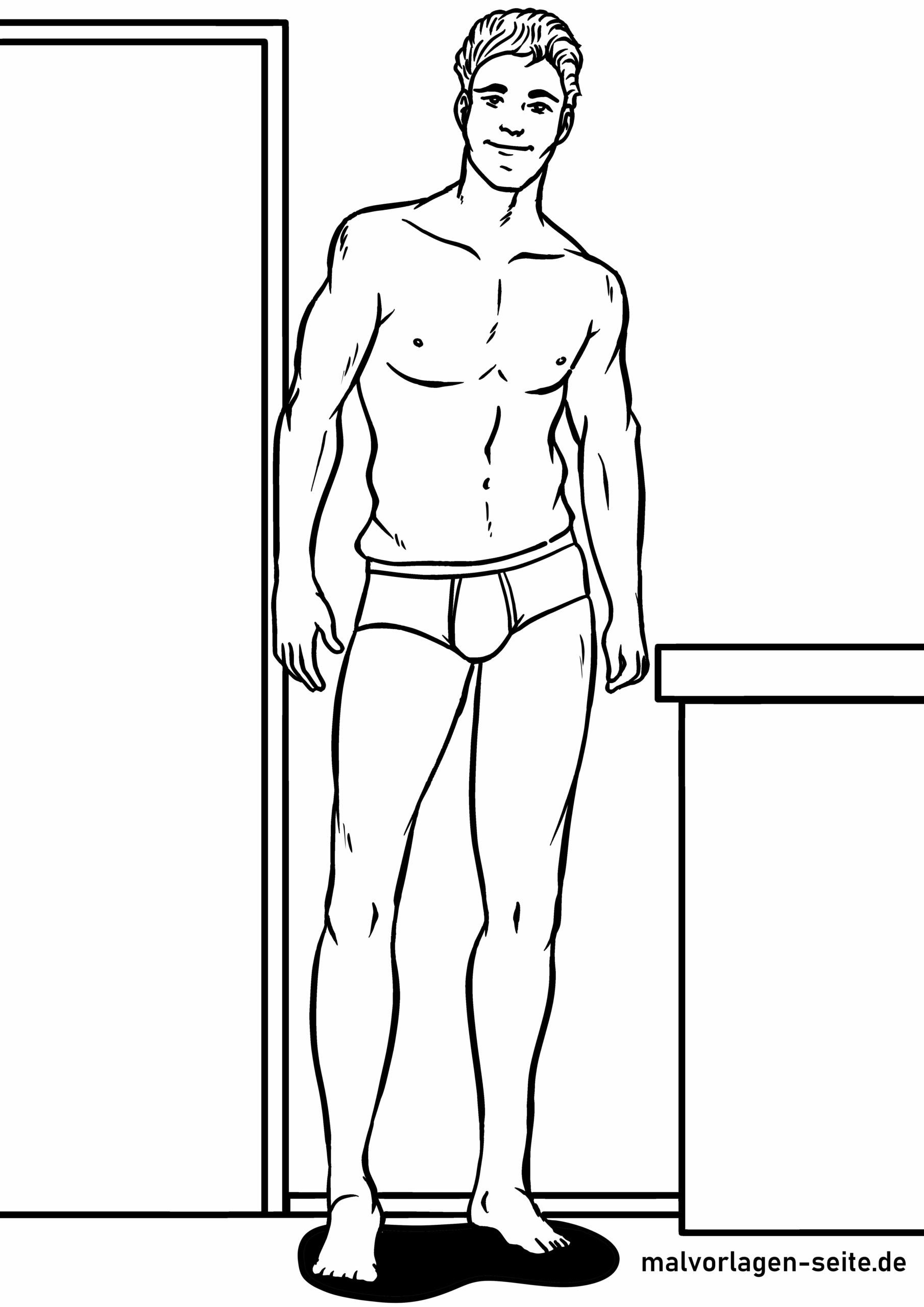 Coloring page male model