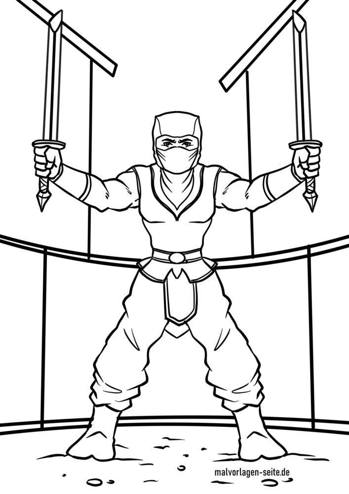 Coloring page Ninja