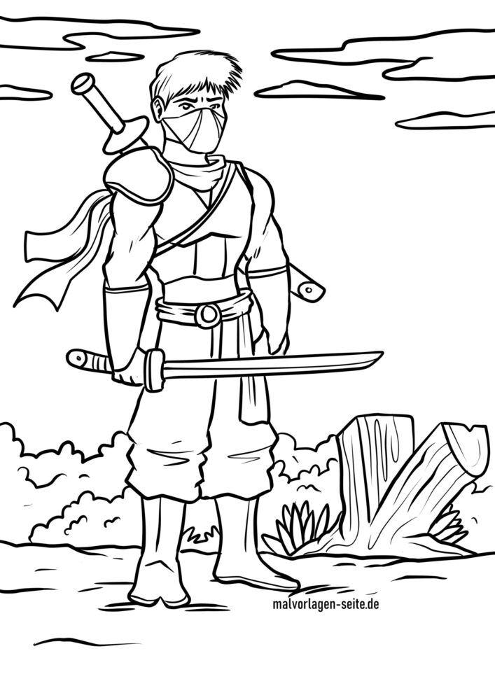 Ninja bojanka
