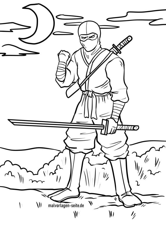 Coloriage Ninja Personnes Coloriages Gratuits