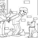Coloriage arrestation par la police