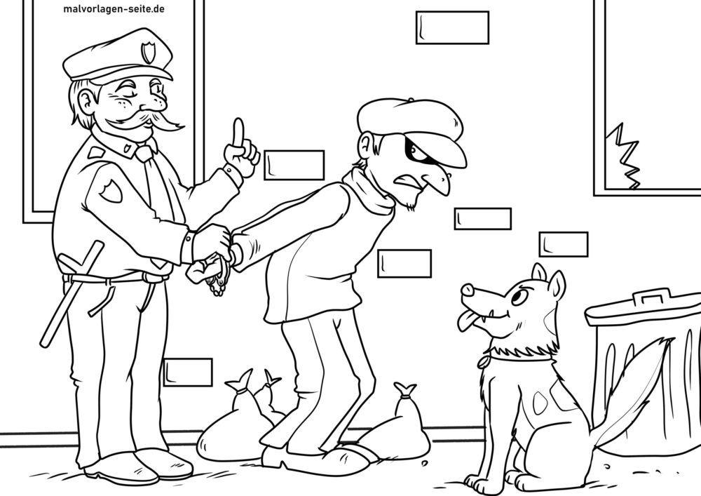 Värityskuva poliisin pidätys
