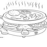 Tegninger til farvelægning raclette