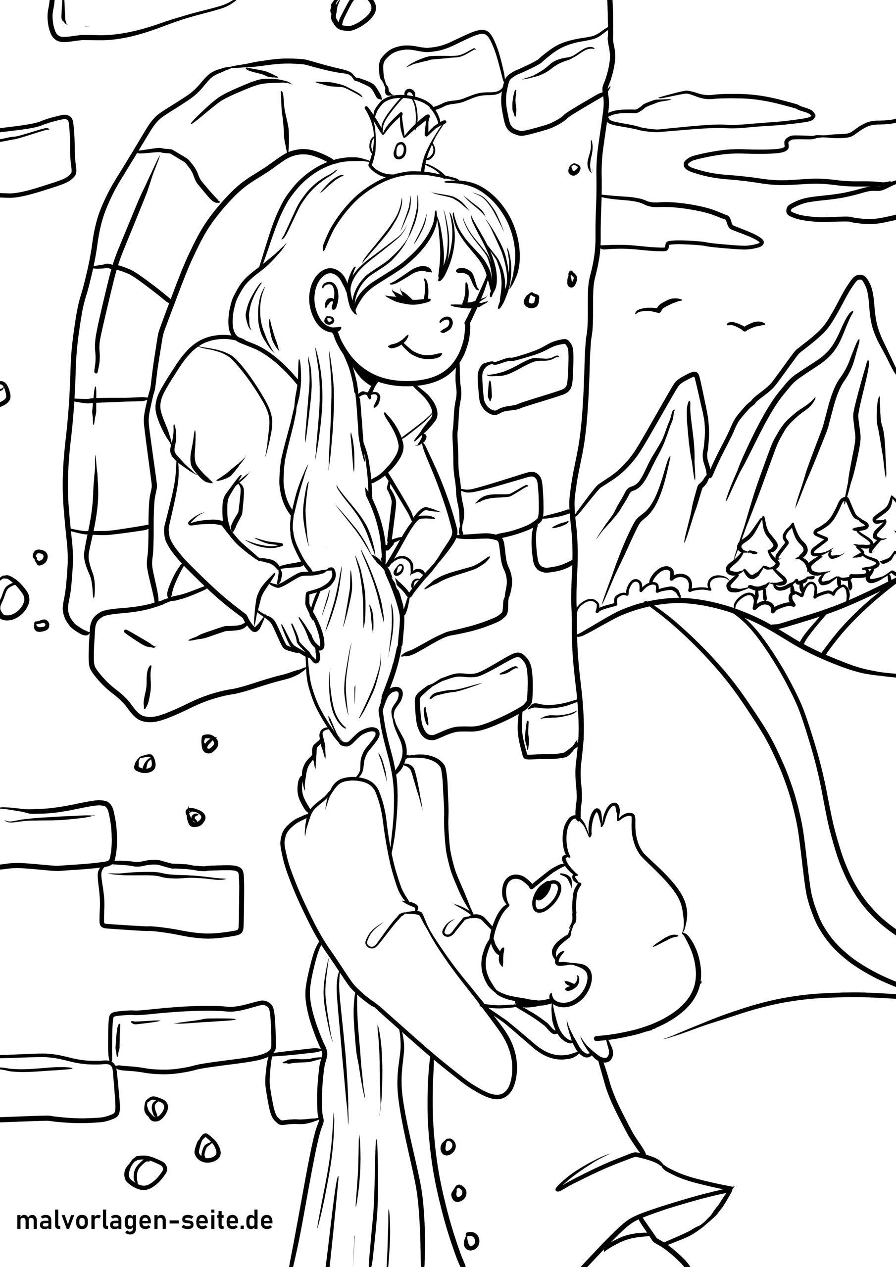 Páx para colorear Rapunzel