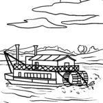 Malvorlage Schaufelraddampfer Mississippi