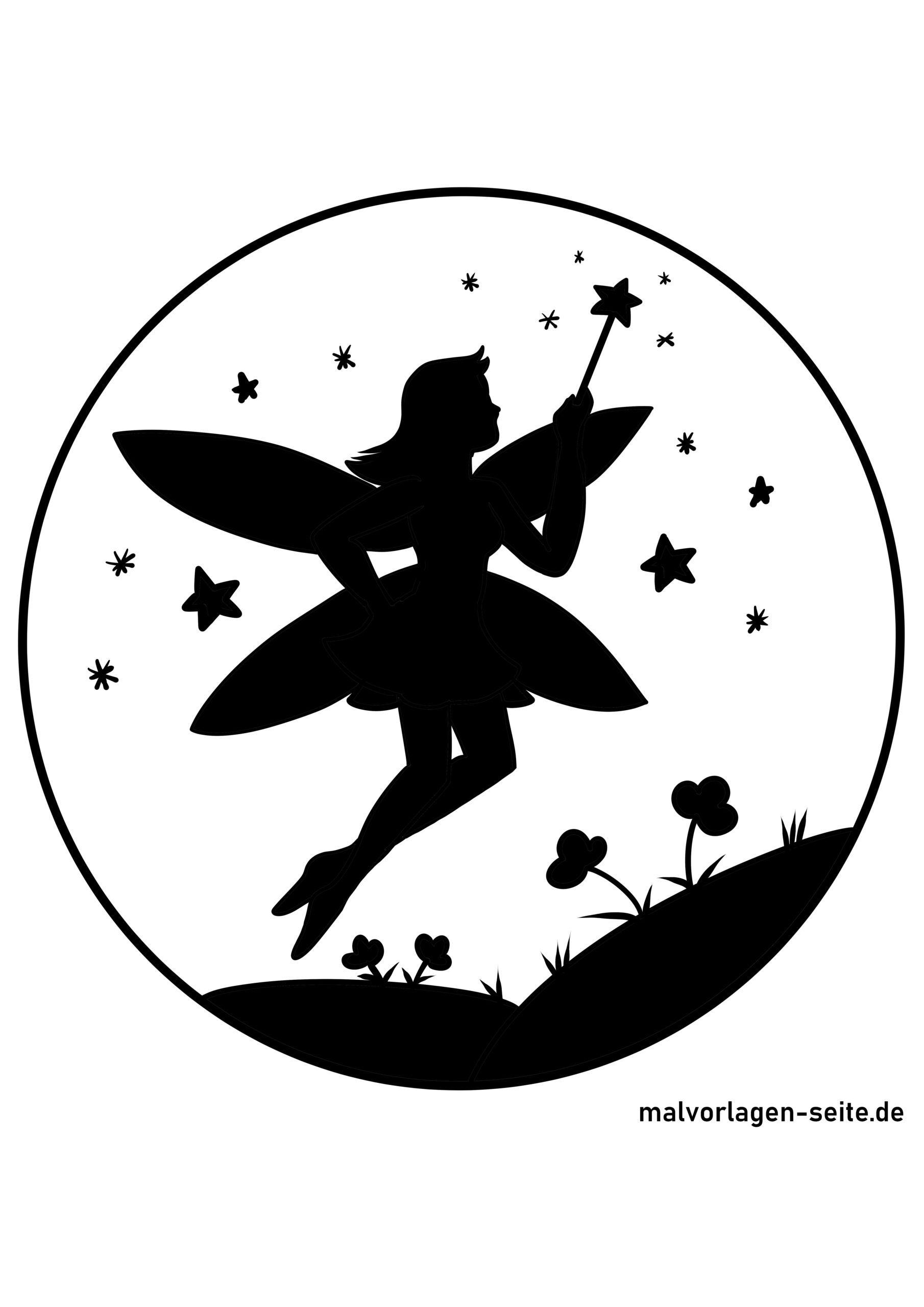 Silhouette / paper cut fairy