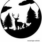 Silhoutte / papirskåret skov