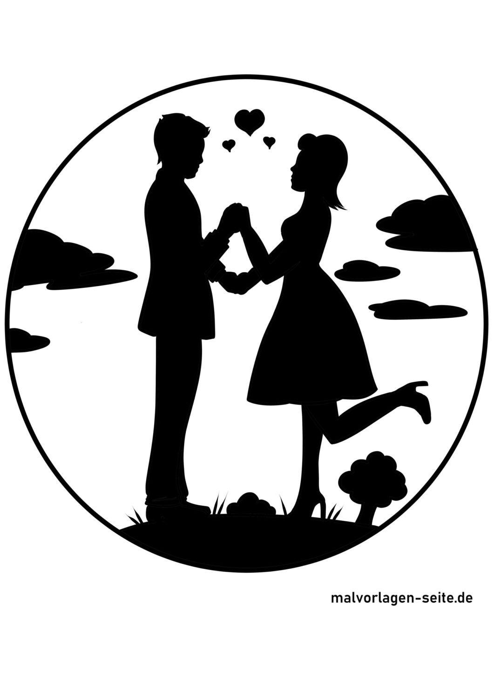 Silhouette / silhouette des amoureux