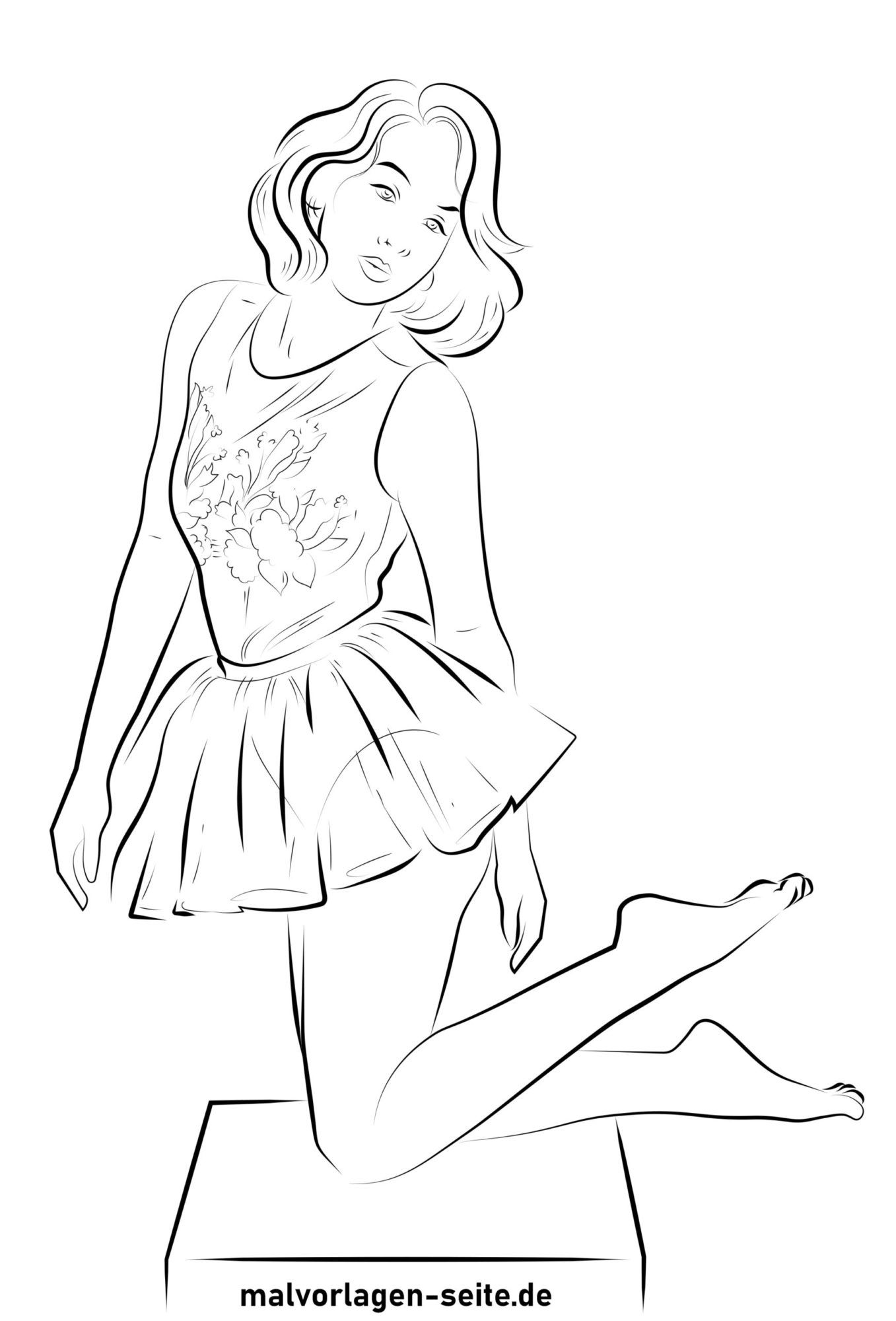Coloring page top model