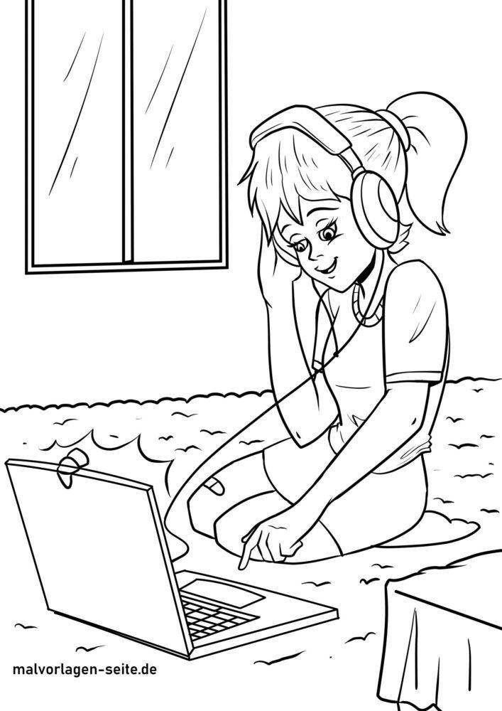 Pagina da colorare bambini in streaming