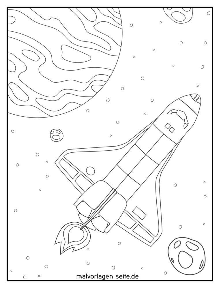 Farvelægning rumskibshuttle
