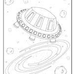 Värivälineen avaruusalus