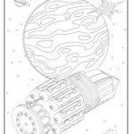 Värityskuva avaruusalus avaruudessa