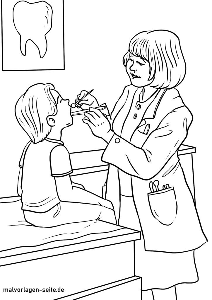 malvorlagen arzt und medizin kostenlos herunterladen und