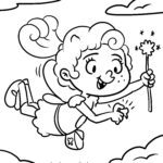 Coloring page tooth fairy - teeth fairy