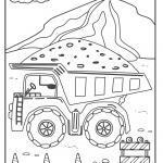 Trak sa paglabay sa dump truck - mga site sa konstruksyon sa site