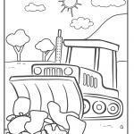 Faciens fuco colorem pagina bulldozer - constructione site vehicles