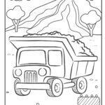Faciens fuco colorem pagina salsissimus vir vivens TUBER - constructione vehicles