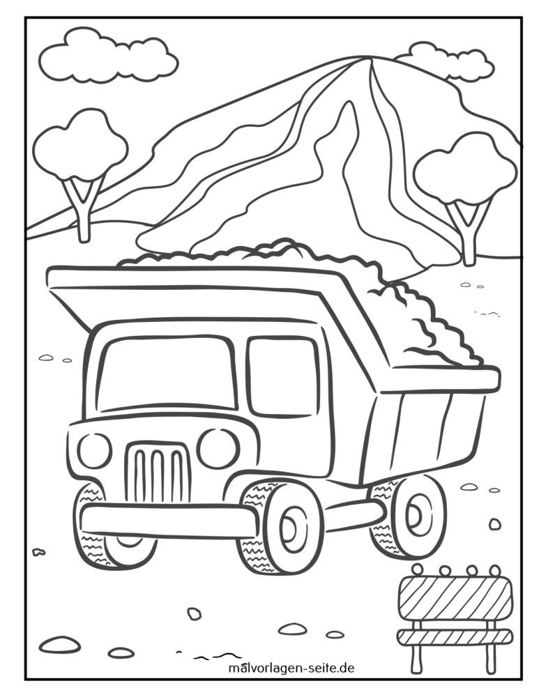 Basahon ang kolor nga dump truck / dump truck