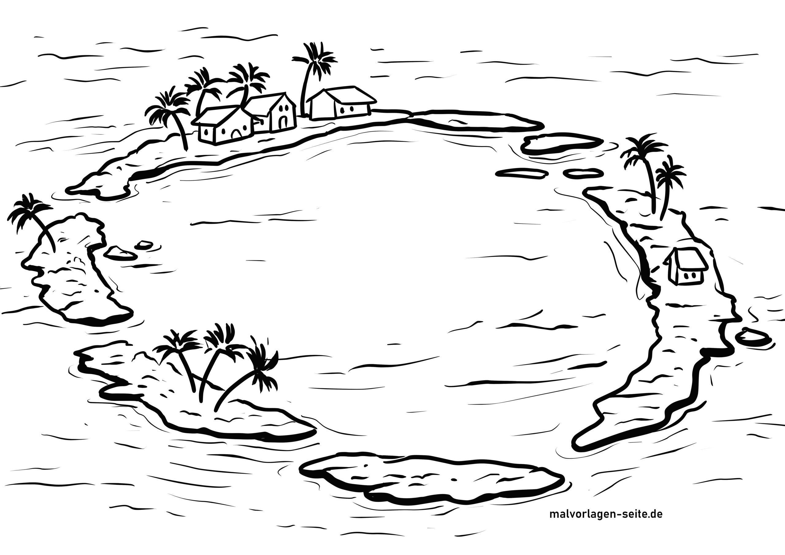 Atoll di pagina di culore