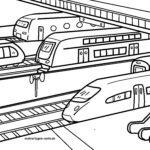 Omalovánky vlaky ve stanici